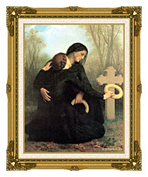 William Bouguereau All Saints Day canvas with museum ornate gold frame