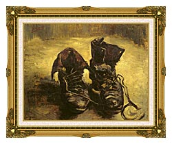 Vincent Van Gogh A Pair Of Shoes 1886 canvas with museum ornate gold frame