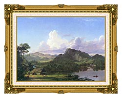 Frederic Edwin Church Home By The Lake canvas with museum ornate gold frame