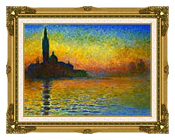 Claude Monet San Giorgio Maggiore At Dusk Venice canvas with museum ornate gold frame