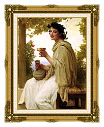 William Bouguereau Bacchante canvas with museum ornate gold frame