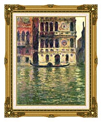 Claude Monet Palazzo Dario canvas with museum ornate gold frame