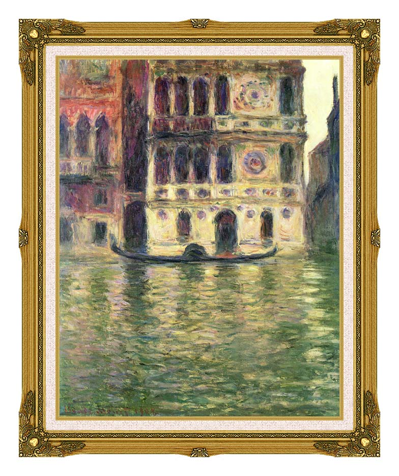 Claude Monet Palazzo Dario with Museum Ornate Frame w/Liner