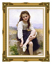 William Bouguereau Before The Bath canvas with museum ornate gold frame