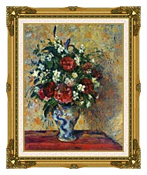 Camille Pissarro Vase Of Flowers canvas with museum ornate gold frame