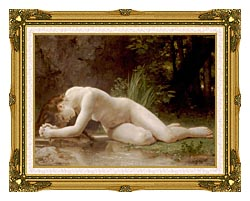 William Bouguereau Biblis canvas with museum ornate gold frame