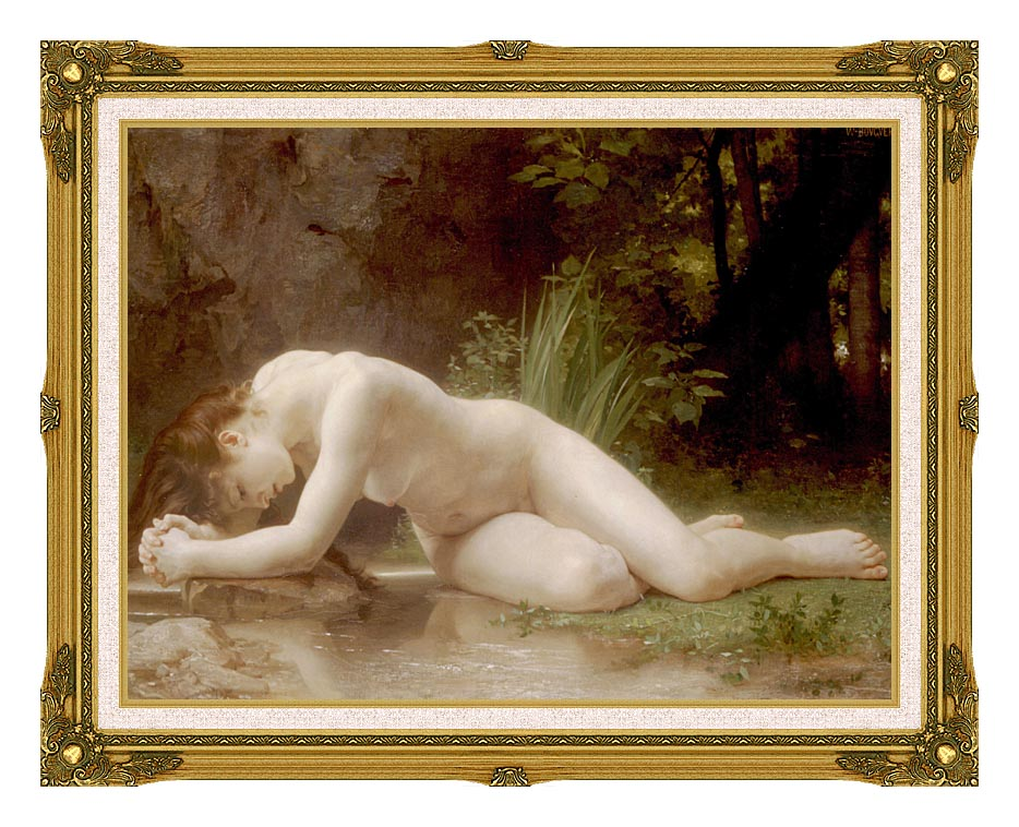 William Bouguereau Biblis with Museum Ornate Frame w/Liner