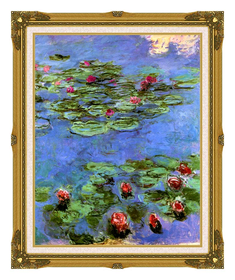 Claude Monet Water-Lilies 1914 with Museum Ornate Frame w/Liner