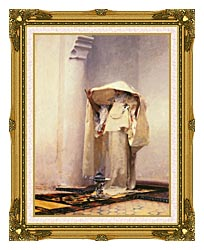 John Singer Sargent Fumee Dambre Gris canvas with museum ornate gold frame