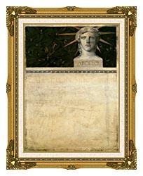 Gustav Klimt Poster Design International Exhibition canvas with museum ornate gold frame