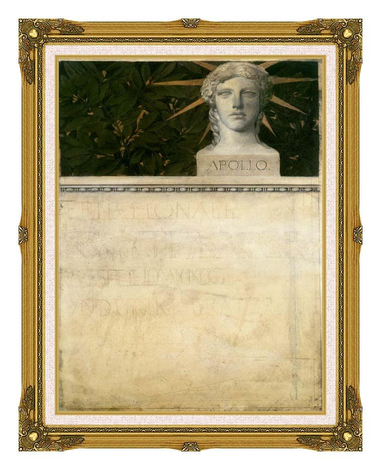 Gustav Klimt Poster Design, International Exhibition with Museum Ornate Frame w/Liner