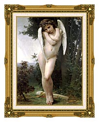 William Bouguereau Cupidon canvas with museum ornate gold frame
