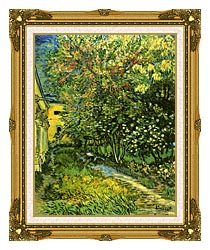 Vincent Van Gogh The Garden Of Saint Paul Hospital canvas with museum ornate gold frame
