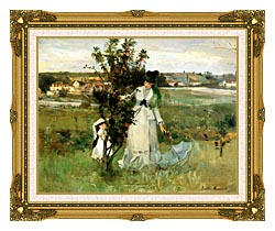 Berthe Morisot Hide And Seek canvas with museum ornate gold frame