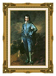 Thomas Gainsborough The Blue Boy canvas with museum ornate gold frame