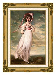 Thomas Lawrence Pinkie canvas with museum ornate gold frame
