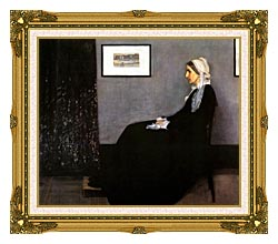 James Abbott McNeill Whistler Arrangement In Grey And Black Portrait Of The Artists Mother canvas with museum ornate gold frame
