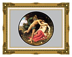 William Bouguereau Flora And Zephyr canvas with museum ornate gold frame
