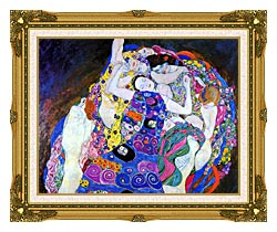Gustav Klimt The Virgin Detail canvas with museum ornate gold frame
