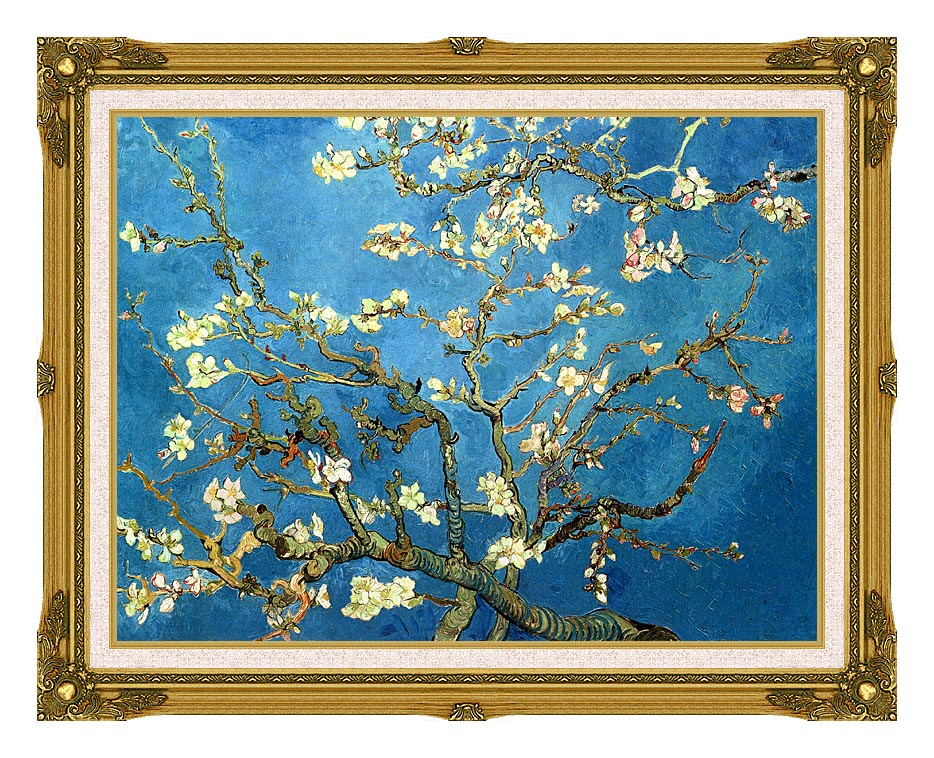 Vincent van Gogh Almond Blossom (detail) with Museum Ornate Frame w/Liner