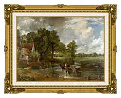 John Constable The Hay Wain canvas with museum ornate gold frame