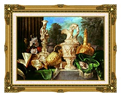 Meiffren Conte Still Life With Precious Vessels canvas with museum ornate gold frame