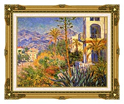 Claude Monet Villas At Bordighera canvas with museum ornate gold frame