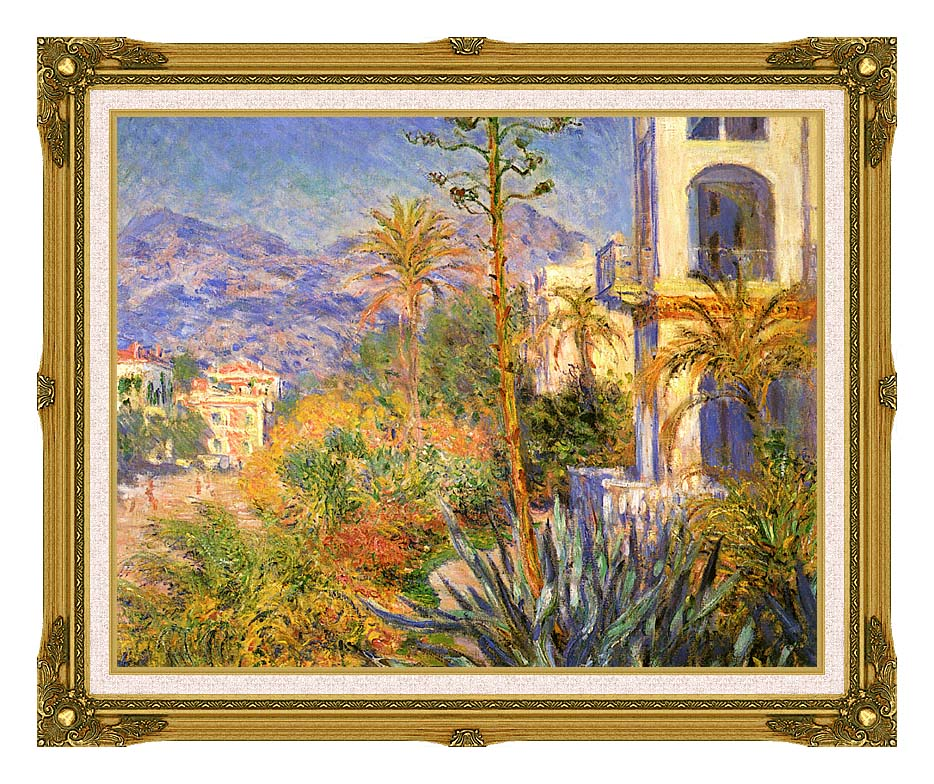 Claude Monet Villas at Bordighera with Museum Ornate Frame w/Liner