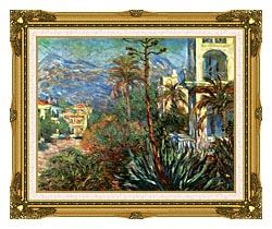 Claude Monet The Villas At Bordighera canvas with museum ornate gold frame