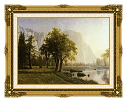 Albert Bierstadt El Capitan Yosemite Valley California canvas with museum ornate gold frame
