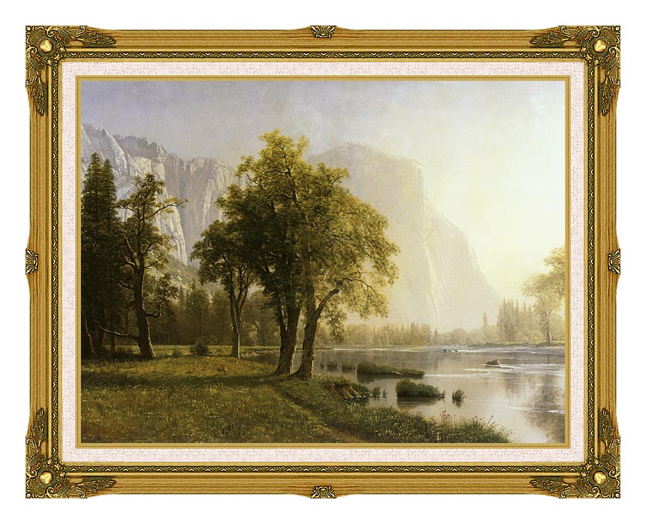 Albert Bierstadt El Capitan, Yosemite Valley, California with Museum Ornate Frame w/Liner