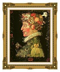 Giuseppe Arcimboldo Spring canvas with museum ornate gold frame