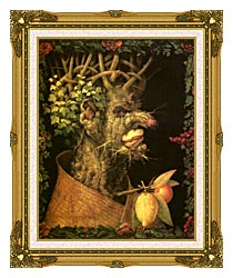 Giuseppe Arcimboldo Winter canvas with museum ornate gold frame
