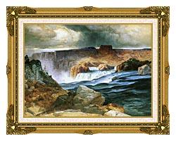 Thomas Moran Shoshone Falls Snake River Idaho canvas with museum ornate gold frame