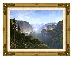 Thomas Hill Yosemite Valley canvas with museum ornate gold frame