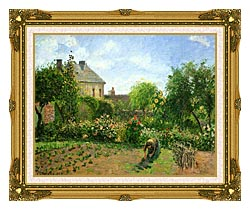Camille Pissarro The Artists Garden At Eragny 1898 canvas with museum ornate gold frame