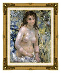 Pierre Auguste Renoir Nude In Sunlight canvas with museum ornate gold frame