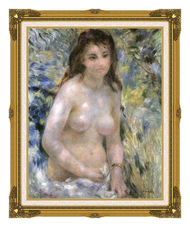 Pierre Auguste Renoir Nude in Sunlight with Museum Ornate Frame w/Liner