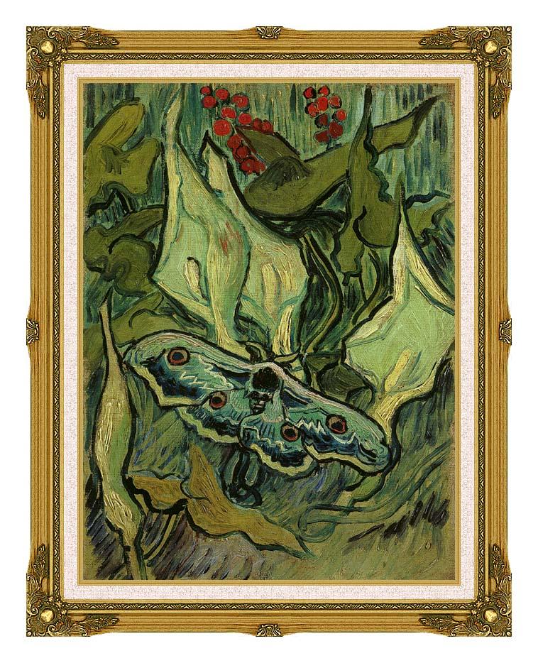 Vincent van Gogh Emperor Moth with Museum Ornate Frame w/Liner