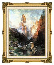 Thomas Moran Mist In Kanab Canyon Utah 1892 canvas with museum ornate gold frame