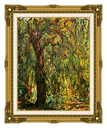 Claude Monet Weeping Willow 1919 Detail canvas with museum ornate gold frame