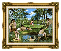 Frederic Bazille Summer Scene canvas with museum ornate gold frame