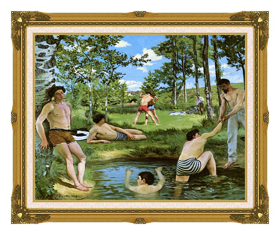 Frederic Bazille Summer Scene with Museum Ornate Frame w/Liner