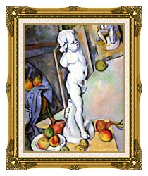 Paul Cezanne Still Life With Plaster Cast canvas with museum ornate gold frame