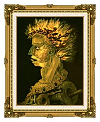 Giuseppe Arcimboldo Fire canvas with museum ornate gold frame