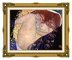Gustav Klimt Danae Detail canvas with museum ornate gold frame