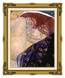 Gustav Klimt Danae 1907 8 Detail canvas with museum ornate gold frame
