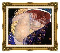 Gustav Klimt Danae canvas with museum ornate gold frame