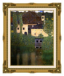 Gustav Klimt Schloss Kammer On The Attersee I Portrait Detail canvas with museum ornate gold frame