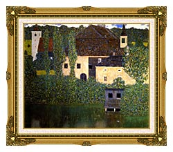 Gustav Klimt Schloss Kammer On The Attersee I canvas with museum ornate gold frame